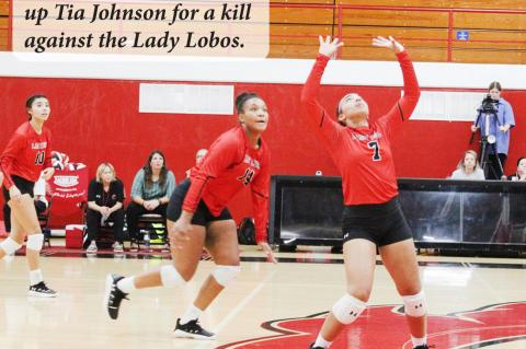 Lady Cubs sweep Lady Lobos at home