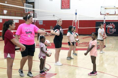 Lady Cubs hold volleyball camp