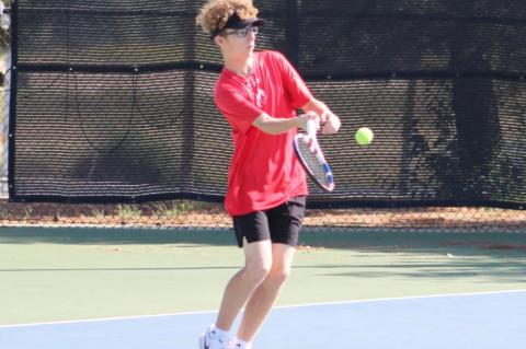 Brownfield tennis a win away from district title