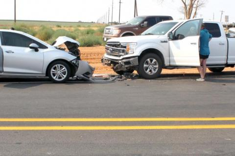 Accident at reconstructed intersection