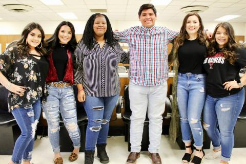 The Brownfield High School Cosmetology Skills USA group