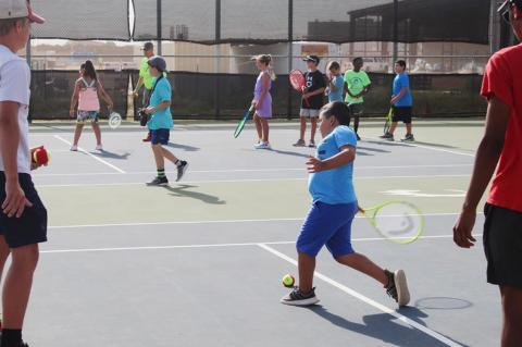 Brownfield tennis camp teaches kids basics of lifelong sport
