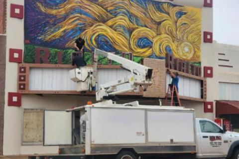 BIDCorp Director pleased with mural