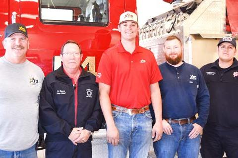 XTO Energy, Inc. contributed $3,000 to the Brownfield Volunteer Fire Department