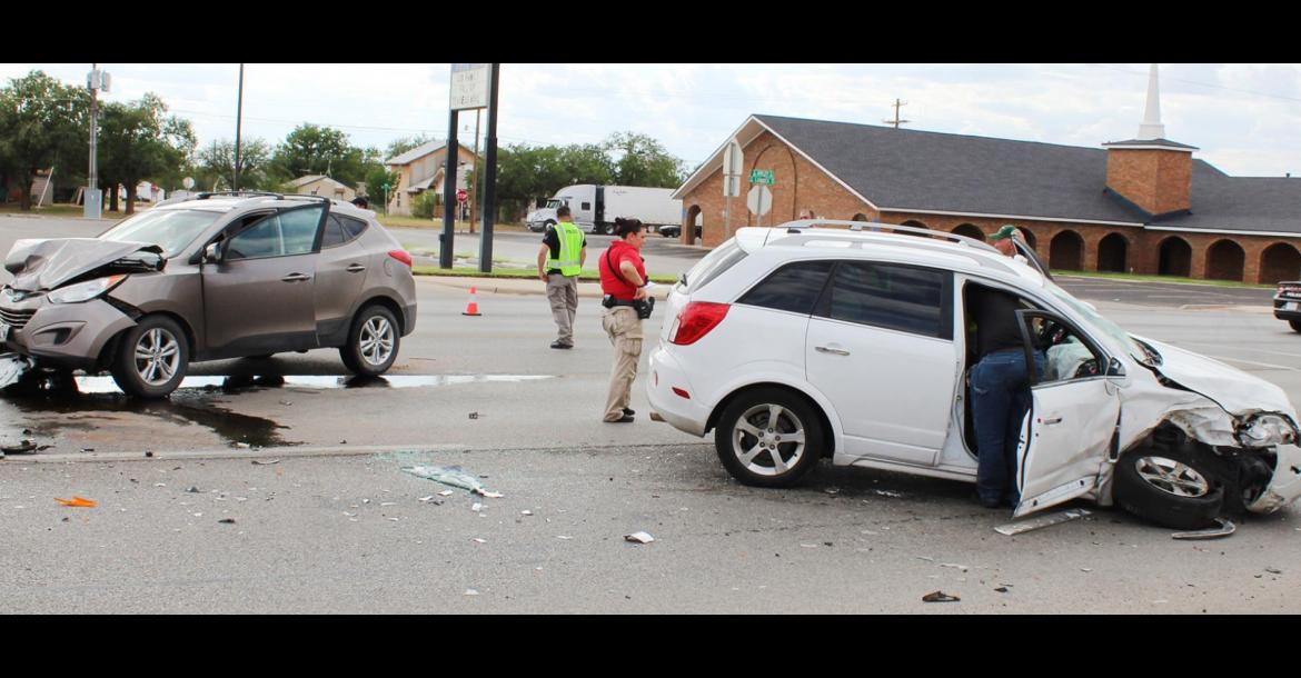 Accident sends two to the hospital