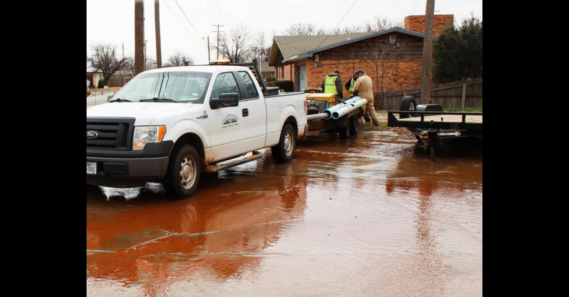 Water Main Explodes Causes Havoc